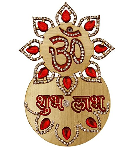 auspicious-diwali-decorations-om-subh-labh-door-wall-sticker-gold-accented-wooden-cut-outs-home-fest