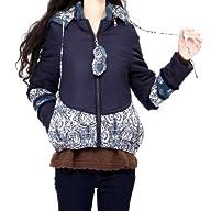 Artka Women's Ingenious Chinese Porcelain Print Hooded Cotton Coat