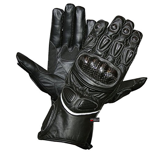 MOTORCYCLE GLOVES CARBON FIBER LEATHER BLACK G66 L (Carbon Fiber Leather compare prices)
