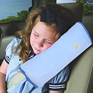 E-Tribe Children Baby pillow Soft Headrest Neck car Pillow Seat Belt Pillow Shoulder Pad for Car Safety Seatbelt Comfortable traveling pillow Seat belt pillow Duplex suede nap children/kids