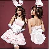 4204*ピンク色のお姫様ワンピースコスプレ 【ゴシック・ロリータ】バニーガール
