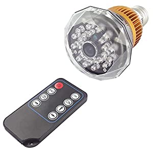 """Toughstyâ""""¢ 1280x720P HD Hidden Camera LED Bulb Motion Activated Video Recorder Security Camcorder Mini DVR IR Night Vision from Toughsty Tech Co Ltd"""