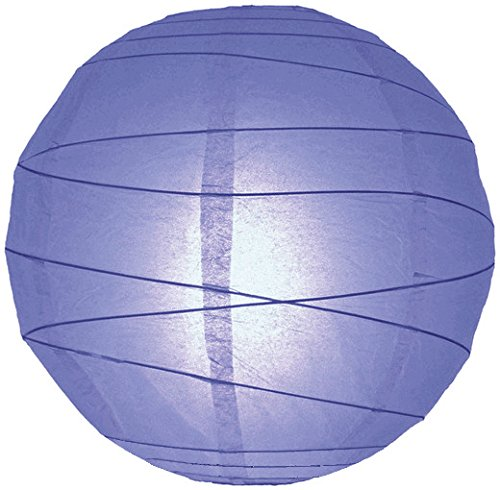"WeGlow International 10"" Astro Blue Free-Style Ribbed Paper Lantern (Set of 2) - 1"