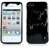 New 3D Melt Ice-cream Skin Hard Case Cover for Apple Iphone 4 4S Black