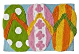 Hanging-Loose-Collection-Flip-Flop-Bath-Mat-Rug-100--Cotton-20-x-30