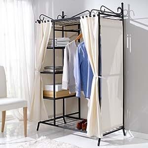 Kleiderschrank breezy metall gestell baumwoll for Garderobe amazon