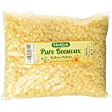 Stakich 1 lb Pure BEESWAX Pellets - Cosmetic Grade, Top Quality -