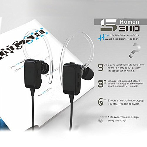 Rubility® Fashion Roman S310 Stereo Bluetooth In-Ear Wireless Headphone with MIC CSR 4.0 trendwoo® twins bluetooth wireless speaker support 2 0 left and right stereo sound surround with built in microphone hands free music player