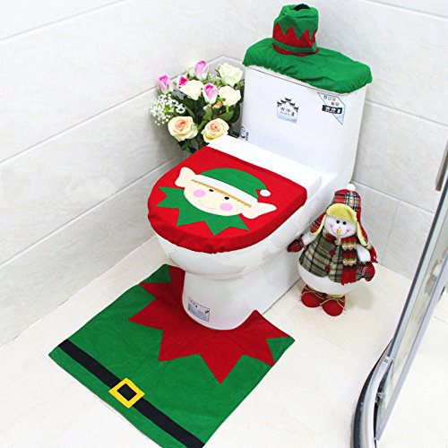 [Cute Design Xmas Toilet Covers Dinner Decor Christmas Bathroom Decoration Party] (Ideas For Homemade Robot Costumes)