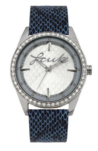 French Connection Ladies Watch BP32.14FC With Blue Snake Skin And Mirrored Dial