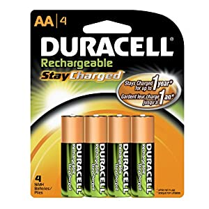 4-pack Duracell StayCharged Rechargeable AA Batteries $7.49