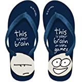 This Is Your Brain On Games Men's Comfy Flip Flops Size Medium