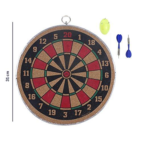 Regali di giorno del padre, Dart legno Game Set con Dual Side Gioca 31 cm Tirassegno superficie del sughero con 3 Acciaio punta freccette Esterni Casa dell'interno e Bar gioco per adulti bambini