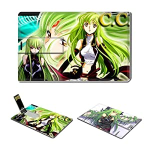 4GB USB Flash Drive USB 2.0 Memory CODE GEASS CC Anime Comic Characters Credit Card Size Customized Support Services Ready