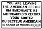 "Magnet ""You are leaving the American..."