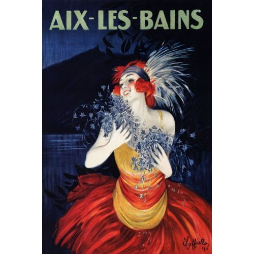 AIX LES BAINS SHOW GIRL FASHION CAPPIELLO FRENCH VINTAGE POSTER CANVAS REPRO