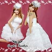 花嫁さん風 ホワイトドレス コスプレ 衣裳 衣装 ダンス パーティー イベント ドレス 手袋 レース手袋 てぶくろ