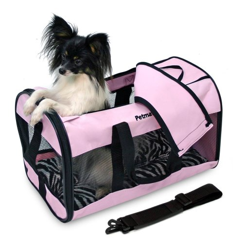 Sales Petmate Soft-Sided Kennel Cab Pet Carrier, Large, Pink
