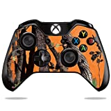 MightySkins Skin for Microsoft Xbox One or One S Controller - Orange Camo | Protective, Durable, and Unique Vinyl Decal wrap Cover | Easy to Apply, Remove, and Change Styles | Made in The USA (Color: Orange Camo, Tamaño: Microsoft Xbox One or S Controller)