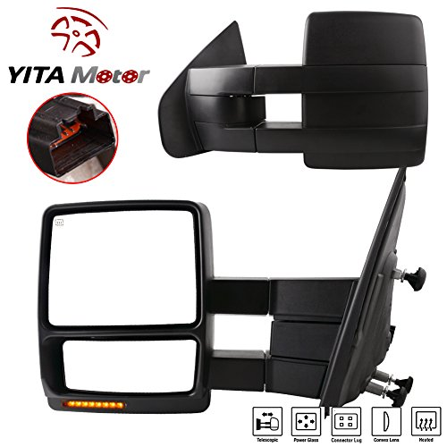 Find Discount YITAMOTOR FO1320369 Power Heated Side View Mirrors Towing With Signal Light for 07-15 ...