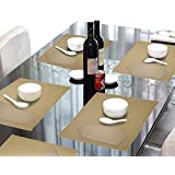 Lushomes Beige 6 Cotton Mats & 6 Plain Cotton Napkins (12 Pcs)