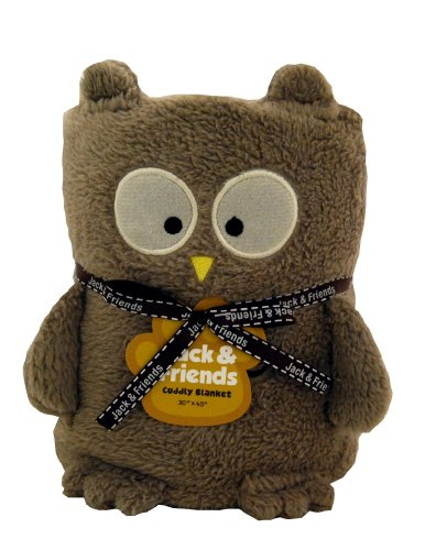 Towel Treat Plush Blanket, Owl