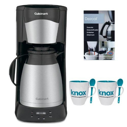 Cuisinart DTC975BKN 12 Cup Programable Thermal Coffeemaker in Black + Knox 16oz. Mug With Spoon (2 Pack) + Accessory Kit (Cuisinart Crystal Scc 1000 compare prices)