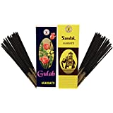 PRS GULAB-SANDAL Incense Stick (Pack Of 10 Agarbatti - 5 Each)