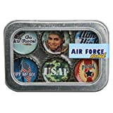 Air Force Bottle Cap Magnets w/ Case