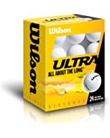 WILSON Golfbälle 24er Pack Ultra 24VPE, Weiß, One Size, WGWR60800