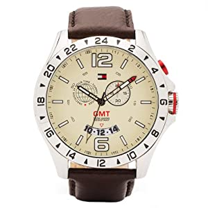 Tommy Hilfiger Mens Chronograph Brown Leather Strap Watch 1790973