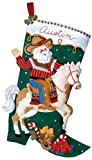 Bucilla Cowboy Santa Stocking Felt Appliqué Kit, 18-Inches Long