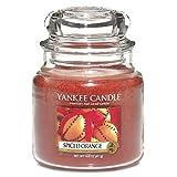 Yankee Candle Medium Jar Candle, Spiced Orange