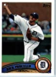 2011 Topps Baseball Card # 597 Rick Porcello - Detroit Tigers - MLB Trading Card (Series 2)