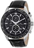 Lucien Piccard Men's LP-12552-01-BK Cartagena Analog Display Japanese Quartz Black Watch