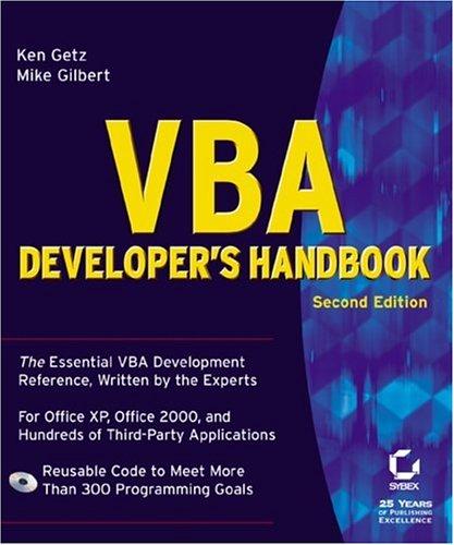 Cheap vba developers handbook 2nd edition discount vba computer vba developers handbook 2nd edition fandeluxe Choice Image