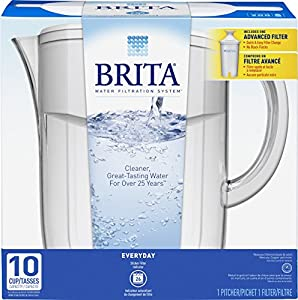 Brita Everyday Water Filter Pitcher, 10 Cup from Brita
