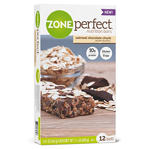 ZonePerfect Nutrition Bars, Oatmeal Chocolate Chunk, 12 Count, 1.1 lbs box (Oatmeal Protein Bars compare prices)