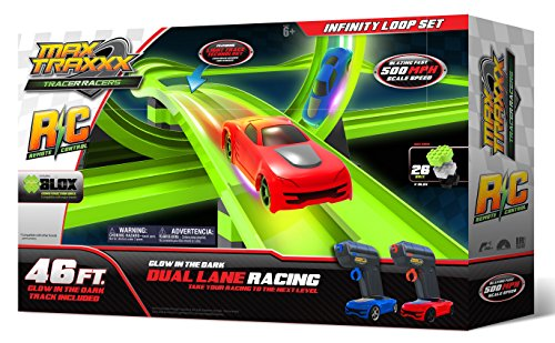 Max Traxxx R/C Award Winning Tracer Racers High Speed Remote Control Infinity Loop Track Set (Afx Slot Car Race Track Sets compare prices)