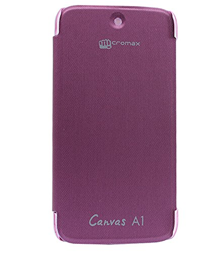 DMG Hard Back Flip Cover Case for Micromax Canvas A1 Android One Mobile (Purple)