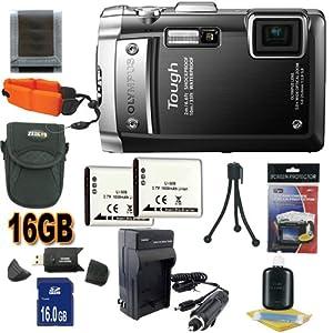 Olympus TG-810 14 MP Digital Camera (Black) (228100) 16GB SDHC Super Accessory Saver Kit