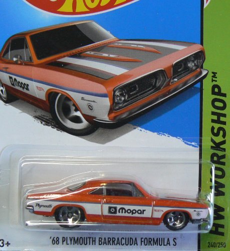 Hot Wheels HW Workshop 240/250 Orange and White '68 Plymouth Barracuda Formula S