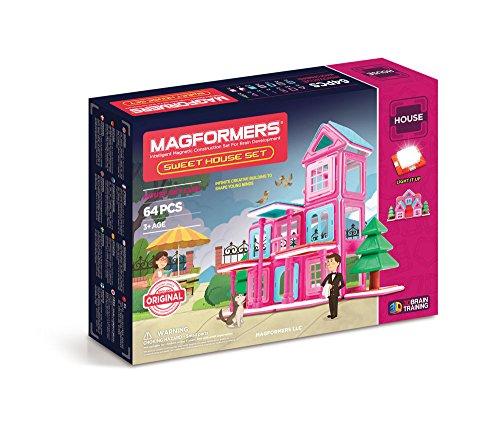 MAGFORMERS Sweet House Set (64 Piece) JungleDealsBlog.com