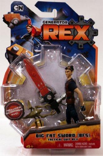 Generator Rex Action Figure Big Fat Sword BFS Tactical Suit Rex