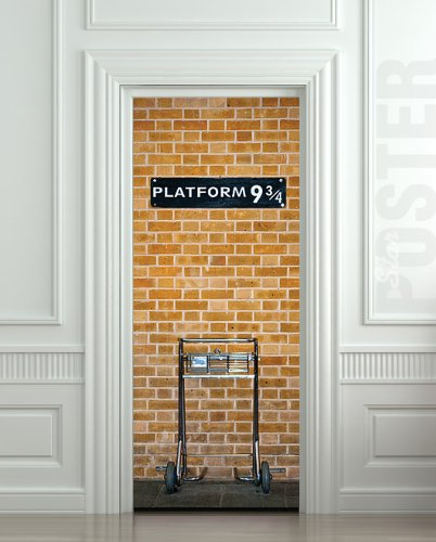 Amazon.com - Wall Door STICKER harry potter platform 9 3/4, mural, decole, film 30x79