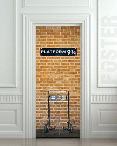 Amazon.com - Wall Door STICKER harry potter platform 9 3/4, mural, decole, film 30x79