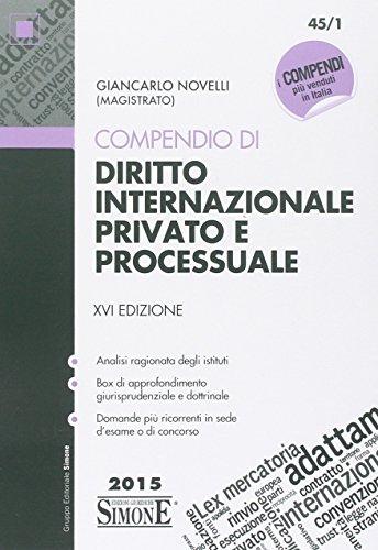 Compendio di diritto internazionale privato e processuale PDF