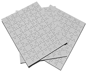 "Inovart Puzzle-It Blank Puzzles 63 Piece 8-1/2"" x 11"" - 12 Per Package"