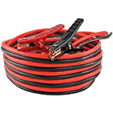 Capri Tools Heavy-Duty Auto Jumper Cables - 20Ft Length - Heavy 4-Gauge Wire with Storage Bag