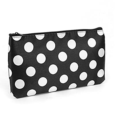 Best Cheap Deal for White Polka Dots Print Polyester Cosmetic Bag Holder Black for Women from Rosallini - Free 2 Day Shipping Available